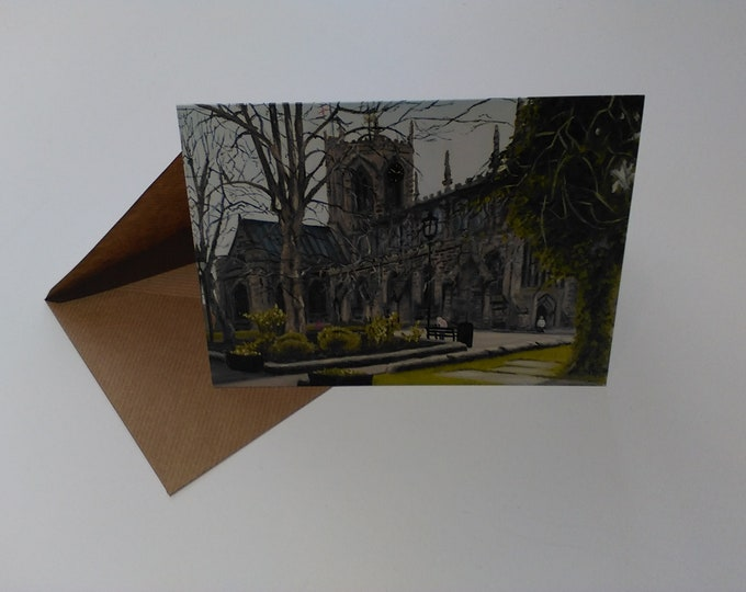 Nantwich Church - Greeting Card with Envelope in Cellophane Wrapping