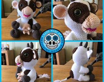 Cow amigurumi pattern, cow crochet pattern, cow, cow pattern