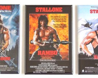 Rambo Movie Poster Fridge Magnet Set