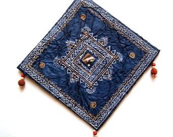 Handmade indian traditional handmade paper wall decor hanging with mandna art