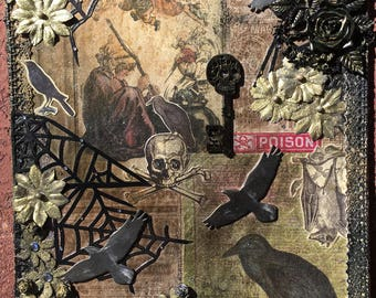 As The Crow Flies, MIXED MEDIA ORIGINAL Art Piece
