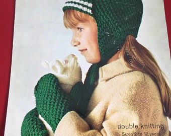 Hat and mittens knitting pattern