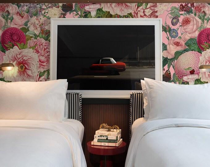 Flower Wallpaper, removable wallpaper, floral wallpaper, Ellie cashman, botanical wallpaper, wall decor, wallpaper, flowers, wall art