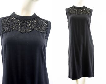 Vintage RK Originals For the Girl Who Knows Clothes Black Sleeveless Woman's Retro Shift Dress