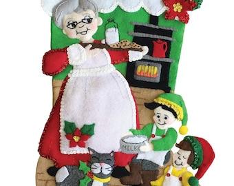 Mrs Claus Felt Stocking Kit from MerryStockings