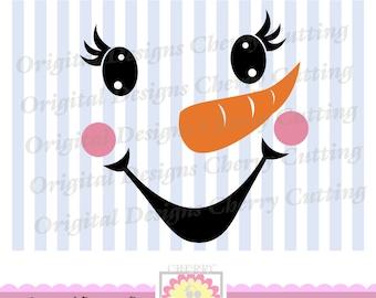 Snowman face,Christmas snowman, Cute Snowman SVG, Christmas Silhouette Cut Files, Cricut Cut Files CHSVG03   -Personal and Commercial Use