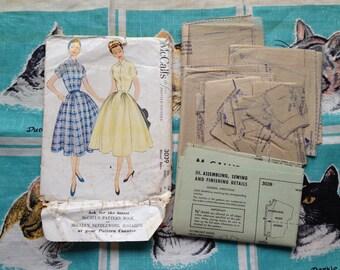 1954 dress pattern. McCall's 3039. 32 bust.
