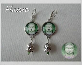 """earrings """"Buddha"""" green"""