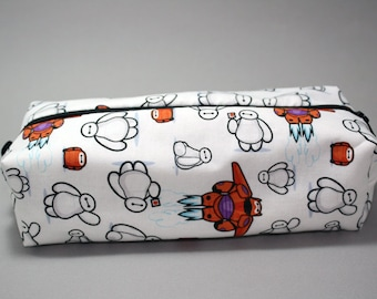Boxy Makeup Bag - Disney's Baymax from Big Hero 6 Zipper - Pencil Pouch