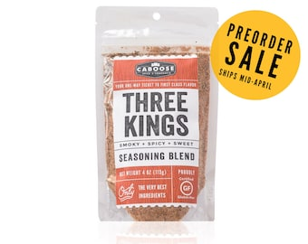 Three Kings Smoky Spicy Sweet Seasoning Blend - Large Pouch (4 oz)