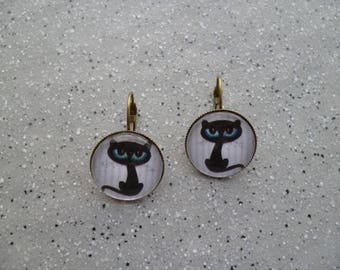 Mr cat Stud Earrings