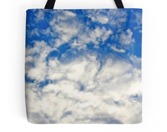 Cloud Tote Bag, Cloud Purse, Clouds Bag, Blue Clouds Bag, Clouds Photo, Clouds Purse, Cloud Photo Bag, Cloud Picture, Clouds Bag, Clouds