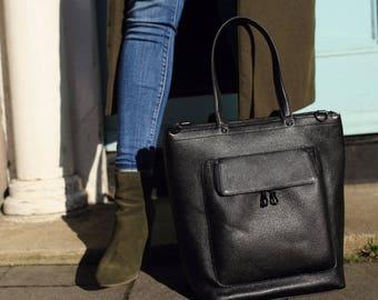 Leather Bag Black, Leather Handbag, Black Leather Bag, Black Leather Purse, Black Leather Tote, Black Shoulder Bag, Black Leather Hobo