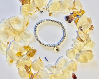 Personlised sterling silver bracelet