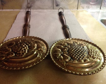 Vintage Bed Warmers/ Wall Decor Brass Made In England