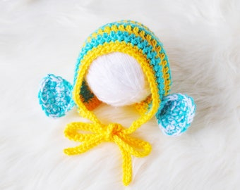 Newborn Girl Hat, Newborn Bonnet, Newborn Cute Gift, Flounder Costume, Newborn Halloween Costume, Baby Halloween Costume, Baby Shower Gift