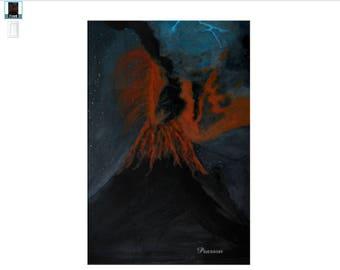 Signed Print *Eruption*