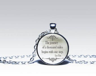 Lao Tzu QUOTE PENDANT Lao Tzu jewelry Inspirational quote pendant, quote jewelry, words pendant necklace for him or for her
