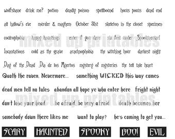 Mixed Up Printables - Scary Halloween Words
