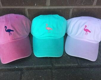 Flamingo Hat - Custom Tiny Deisgn Baseball Caps
