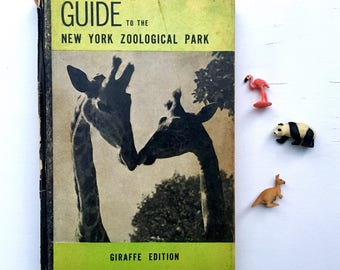 Vintage Book, Zoo Reference, Guide to the New York Zoological Park, Giraffe Edition, 1943, Animal Life, Nature Lover, Biology