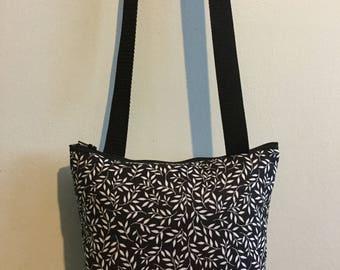 Black & white cross body pouch