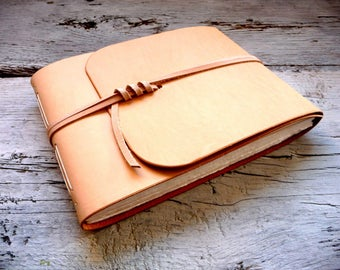 Leather watercolor sketchbook, watercolor journal, leather journal, artists book