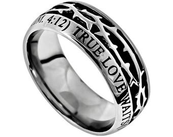 "Crown Of Thorns Ring ""True Love Waits"""