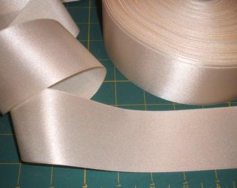 UK Seller:-50mm (2 inch) Cream Satin Ribbon x 5 metres