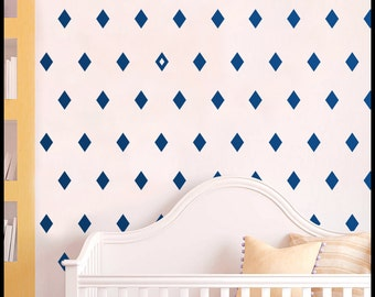 Argyle Wall Decals / Diamond-shaped lozenge stickers / Kids Wall Decal / Kids Room Decor / gift