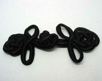 Long black braids 12cm - ref 9A Brandenburg ties