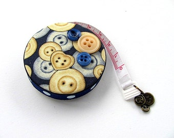 All About The Blue Buttons Retractable Tape Measure