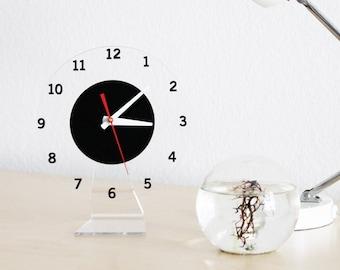 Floating Numbers Clock, Modern Wall or Desk Clock
