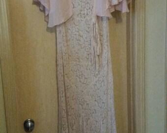Vintage 20's Lace Wedding Dress