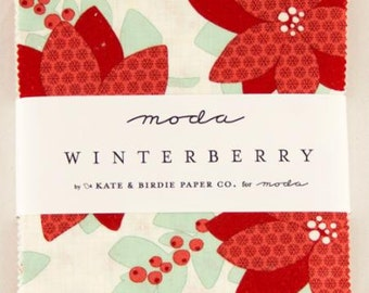 Winterberry Charm Packs by Kate & Birdie for Moda