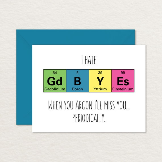 Goodbye Card Printable / Funny Goodbye Card / Nerdy Goodbye