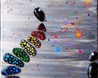 Glassblower colors decorative fabric