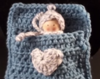 Sleepytime Doll - Blue/White - FREE SHIPPING