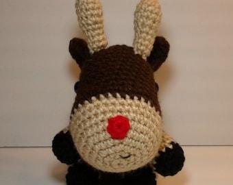 Crochet Reindeer, dark brown