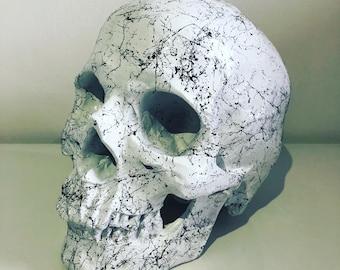 Handmade Skull White Marble/Glow In The Dark
