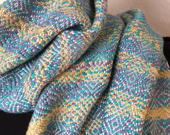 Handwoven scarf, women gift, hand woven scarf winter fashion scarf, catherine textile lapierre