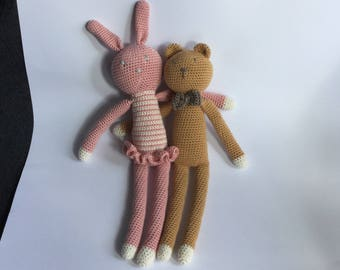 Crochet hugs: Rabbit & Bear