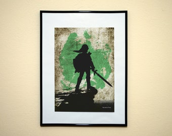 Legend of Zelda Modern Art Print. Minimalist Video Game Poster.