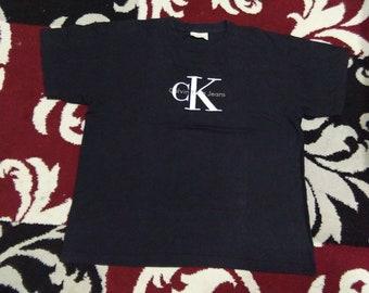 vintage calvin klein ck t shirt size s-m made in usa