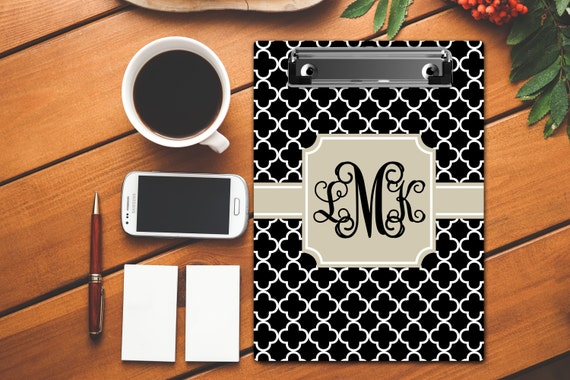 Gifts for Coworkers Monogrammed Clip Board Custom Clipboard Personalized Clip Board Monogrammed Gift College Student Dorm Room