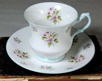 Teacup and Saucer Fine Bone China, Made in England, Royal Dover