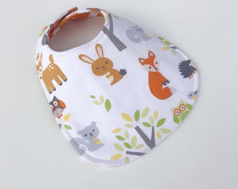 Reversible Baby Bib for Baby Boy