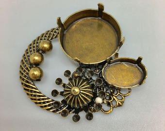 Piece crimp belt buckle or brooch