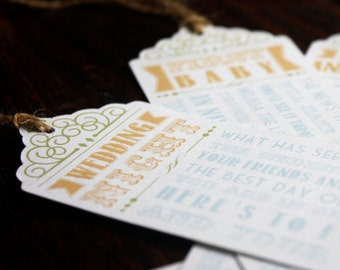 Custom Wine Poem Gift Tags, Bridal Shower Gift, Country, Southern, Rustic