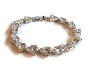 Crystal Bridal Bracelet - Bridal Bracelet - Crystal Bracelet